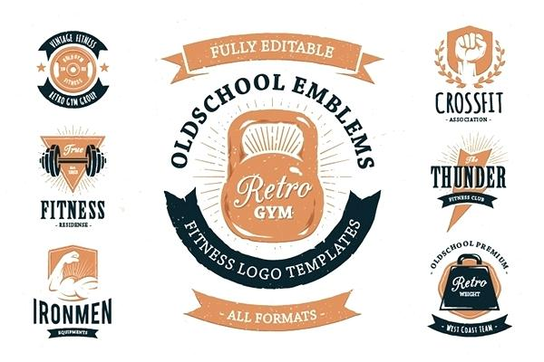 600x400 Gym Logo Templates 3 Color Variations 4 File Types All You Need To