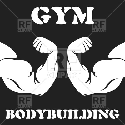 400x400 Download Vector Images Gym And Bodybuilding Emblem With Biceps
