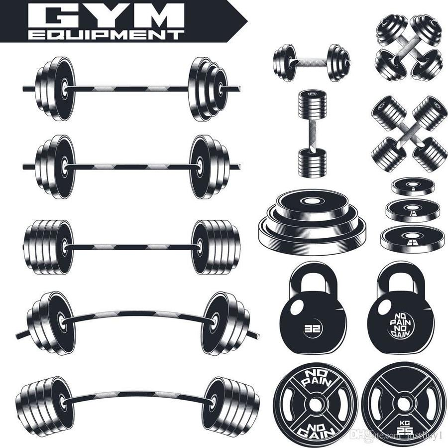 900x899 Download Gym Equipment Vector Clipart Dumbbell Exercise Equipment