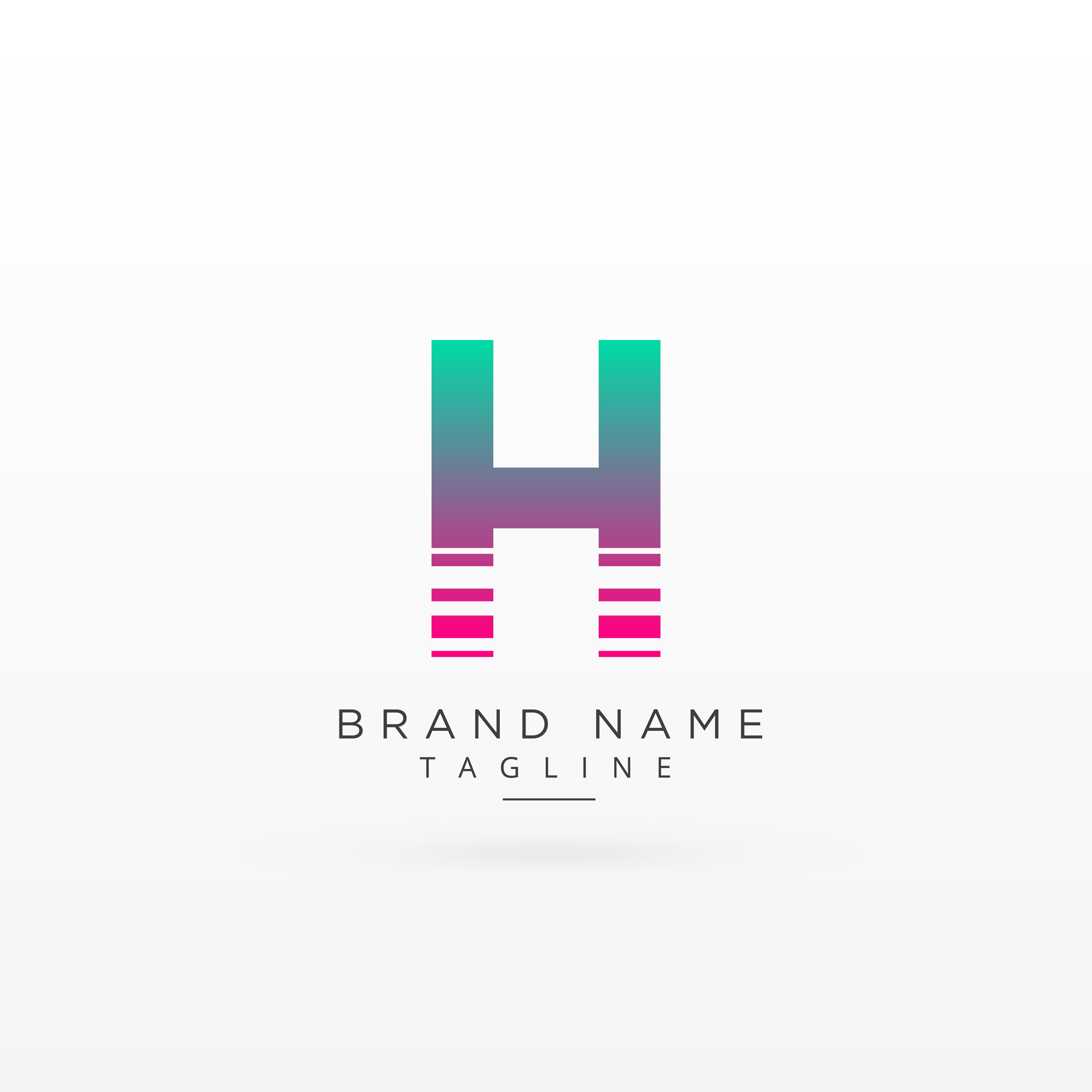 4000x4000 Letter H Logo Type Concept Design