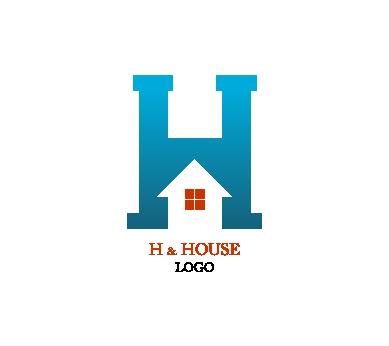 389x346 Building H Letter Alphabets Inspiration Vector Logo Design