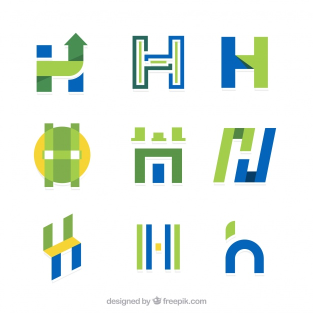 626x626 Collection Of Letter H Logo In Flat Design Vector Free Download