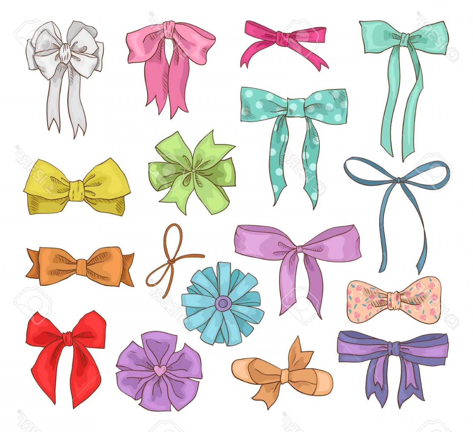 1560x1425 Photostock Vector Girls Bow Vector Girlish Bow Knot Or Girly