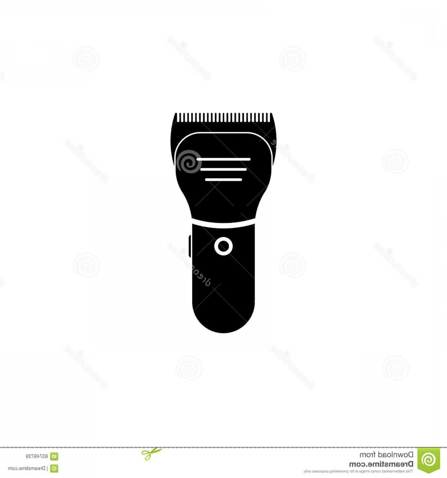 1560x1668 Stock Illustration Hair Clipper Vector Icon Shear Cutter White