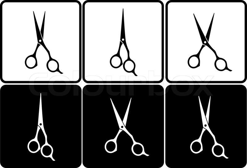 800x543 Hairdressing Scissors Vector