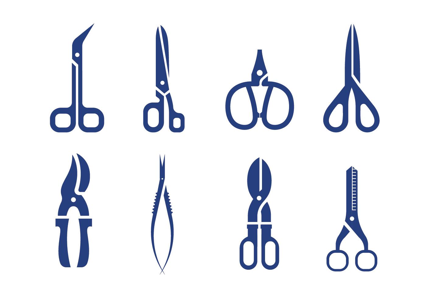1400x980 Scissors Hair Free Vector Art