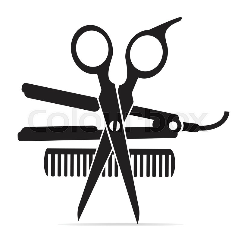 800x800 Scissors And Comb Vector