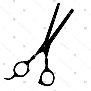 300x300 Black Silhouette Hair Scissors Vector Isolated Sohadacouri