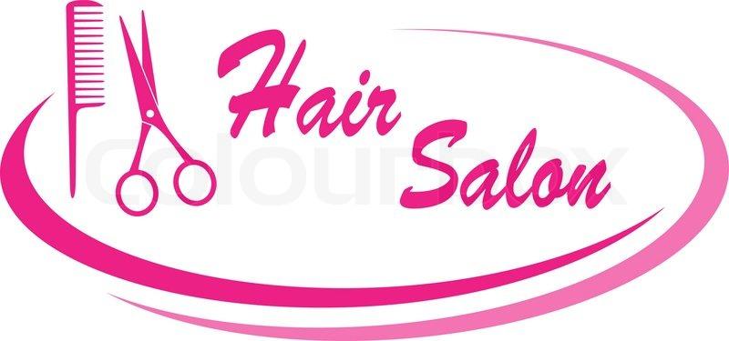800x375 Hair Salon Sign With Design Elements Stock Vector Colourbox