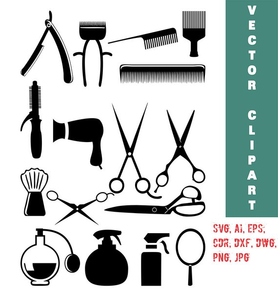 570x600 Hairstylist Clip Art Hairdresser Vector Hair Salon Svg Etsy