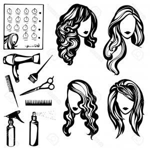 300x300 Photostock Vector Vector Set Of Logos Barbers And Beauty Salon A
