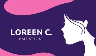 322x189 Pink And Purple Dye Brush Vector Hair Stylist Business Card
