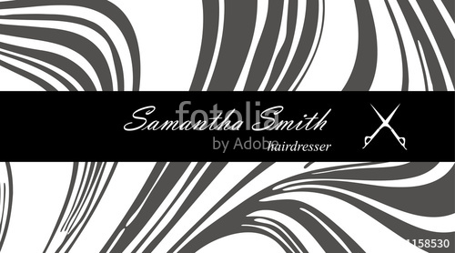 500x278 Creative Modern Hair Stylist Business Card, With Abstract Gray
