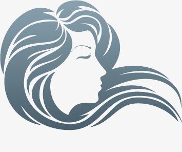 355x296 Female Silhouette Vector Flowing Hair, Silhouette Vector, Hair
