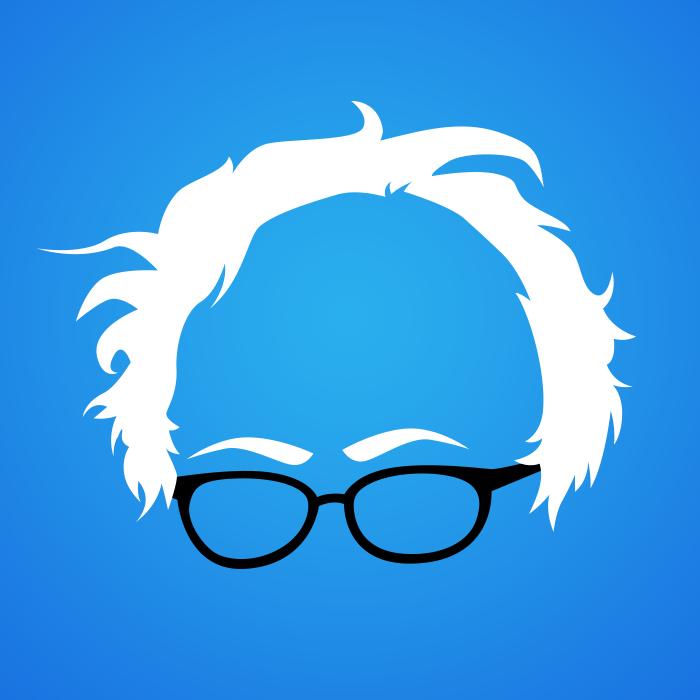 700x700 Free Bernie Hair Vector By