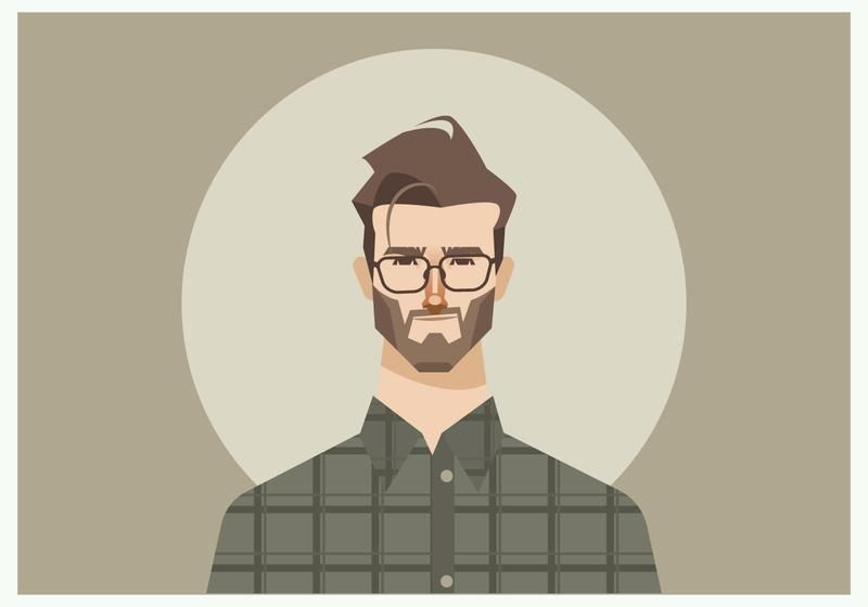 800x560 Image Result For Young Man Flat Hairstyle Vector Character