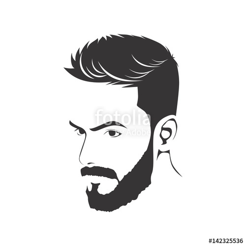 500x500 Men Haircut Hairstyle With Beard Stock Image And Royalty Free