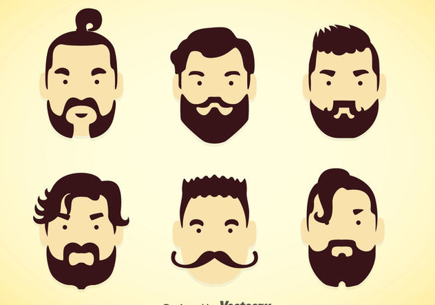 632x443 Man Hairstyles Vector Sets Free Vector Download 353363 Cannypic