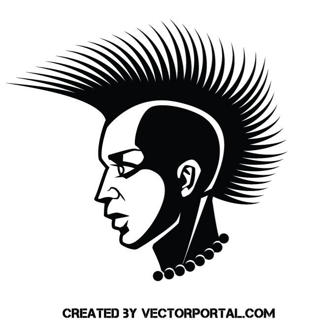 660x660 Punk Hairstyle Vector Image