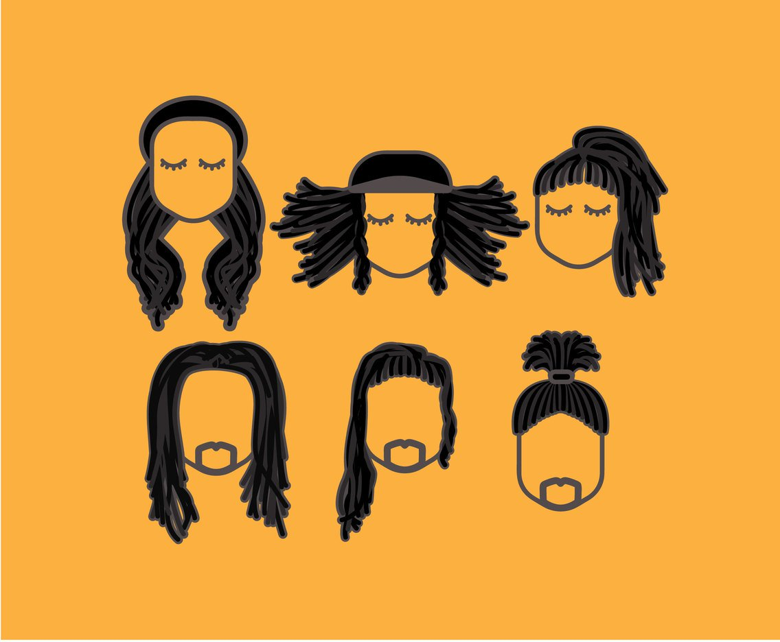1136x936 Various Dreadlocks Hairstyle Vector Vector Art Amp Graphics