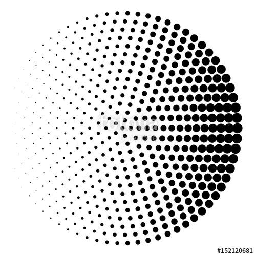 500x500 Halftone Circle Background, Halftone Dot Pattern Stock Image And