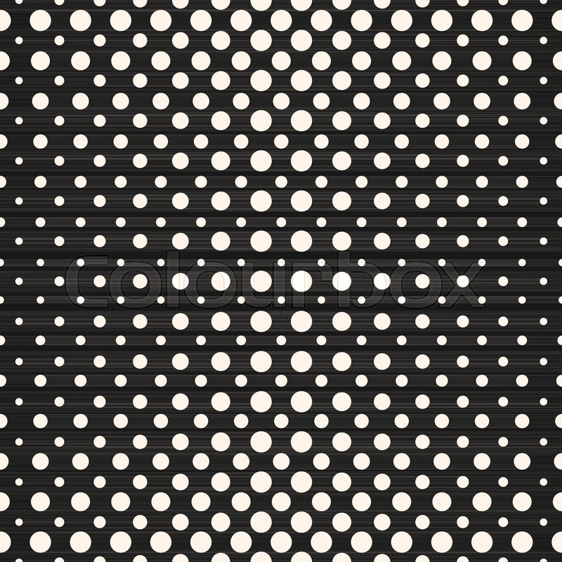800x800 Halftone Dots Vector Seamless Pattern. Halftone Circles Stock