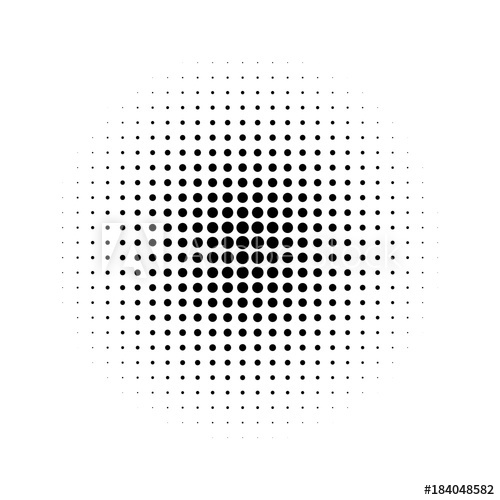 500x500 Halftone Effect Isolated On White Background. Halftone Dots