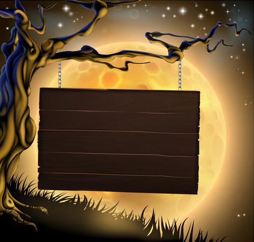 500x478 2013 Halloween Vector Background 01 Free Download