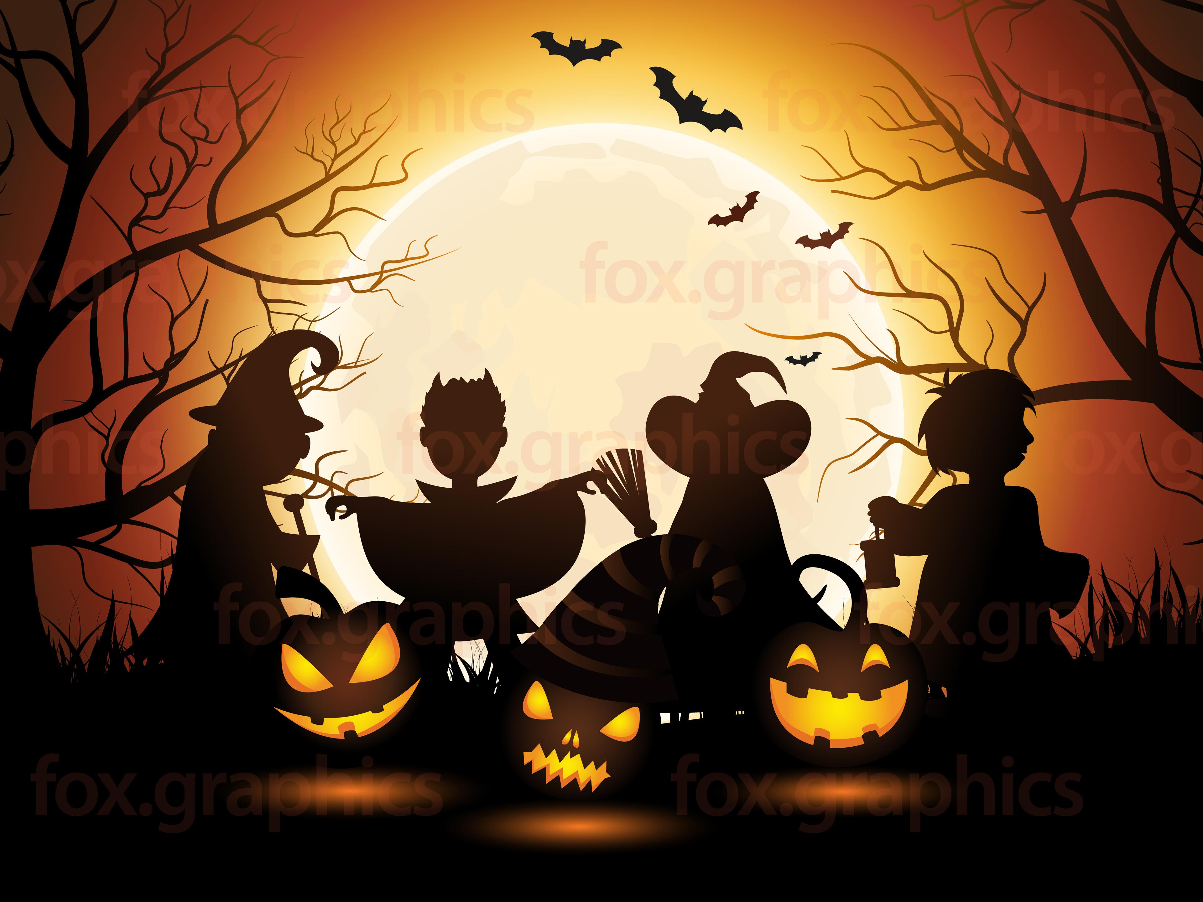 3840x2880 Halloween Background Vector