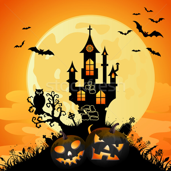 600x600 Halloween Background Vector Illustration Oleksii Telnov ( Talex