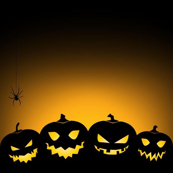 600x600 Halloween Pumpkins Background Vector Graphics My Free Photoshop