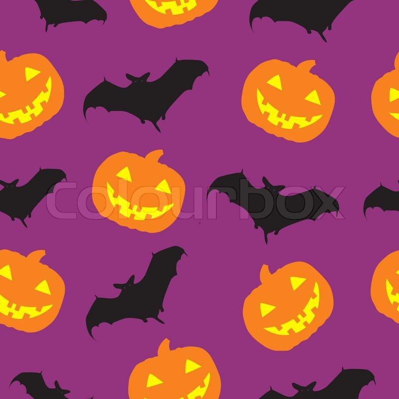 800x800 Halloween Seamless Pattern Background Vector Illustration Stock
