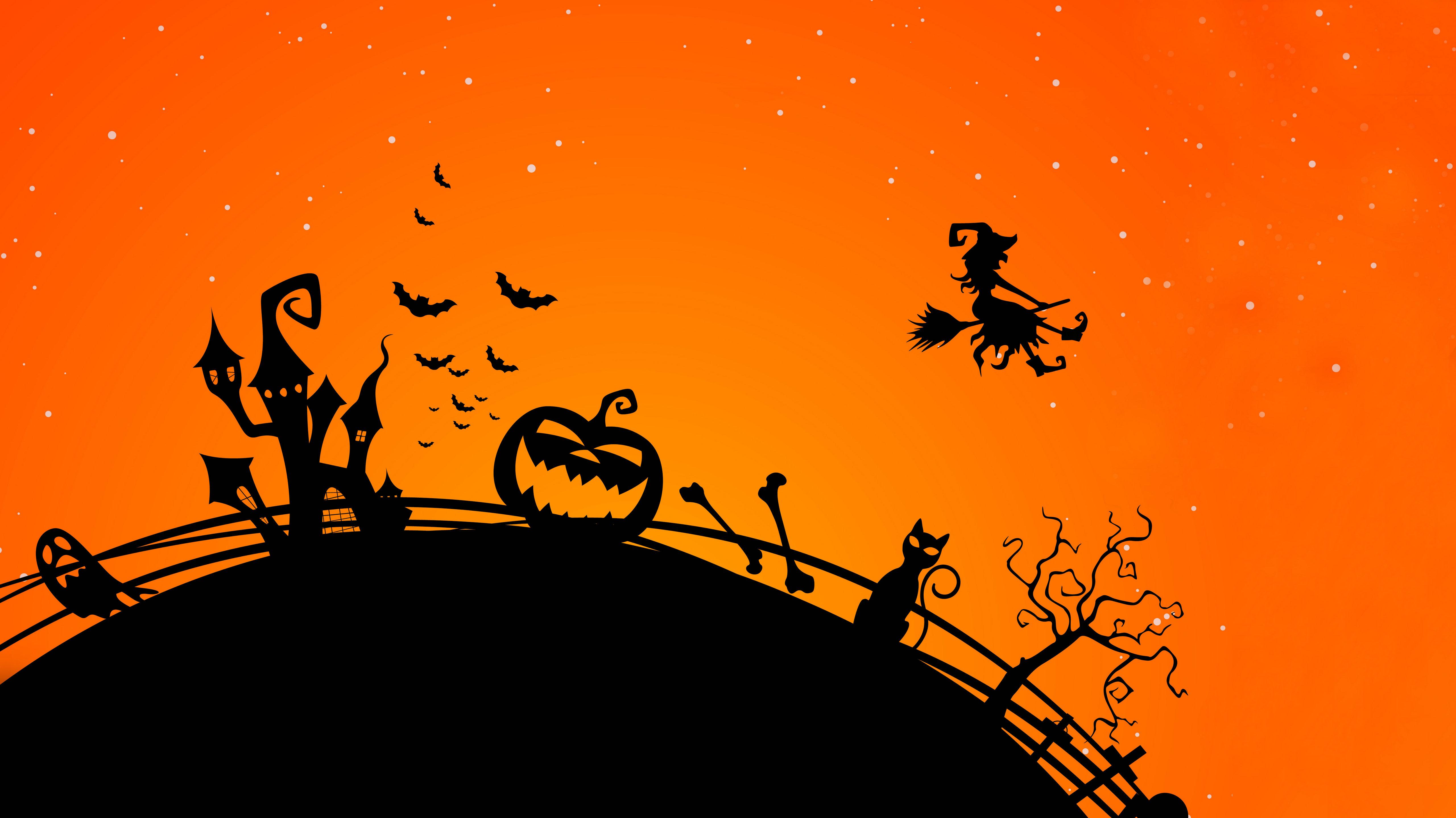 5120x2880 Free Halloween Background