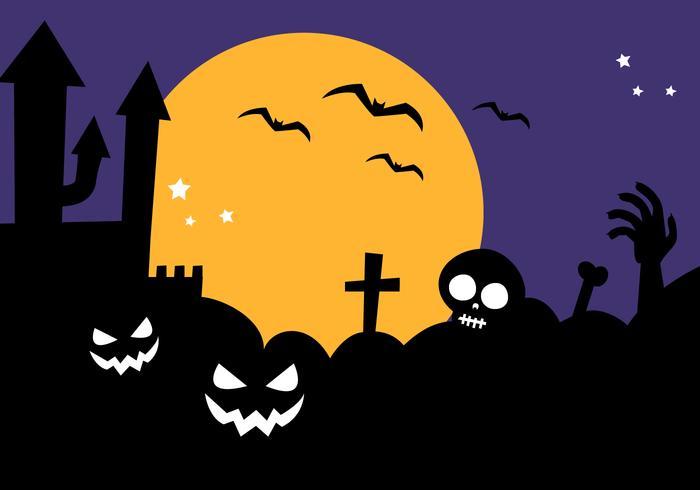 700x490 Free Halloween Background Vector