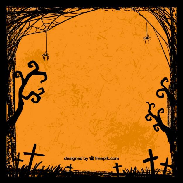 626x626 Grungy Halloween Background Vector Premium Download