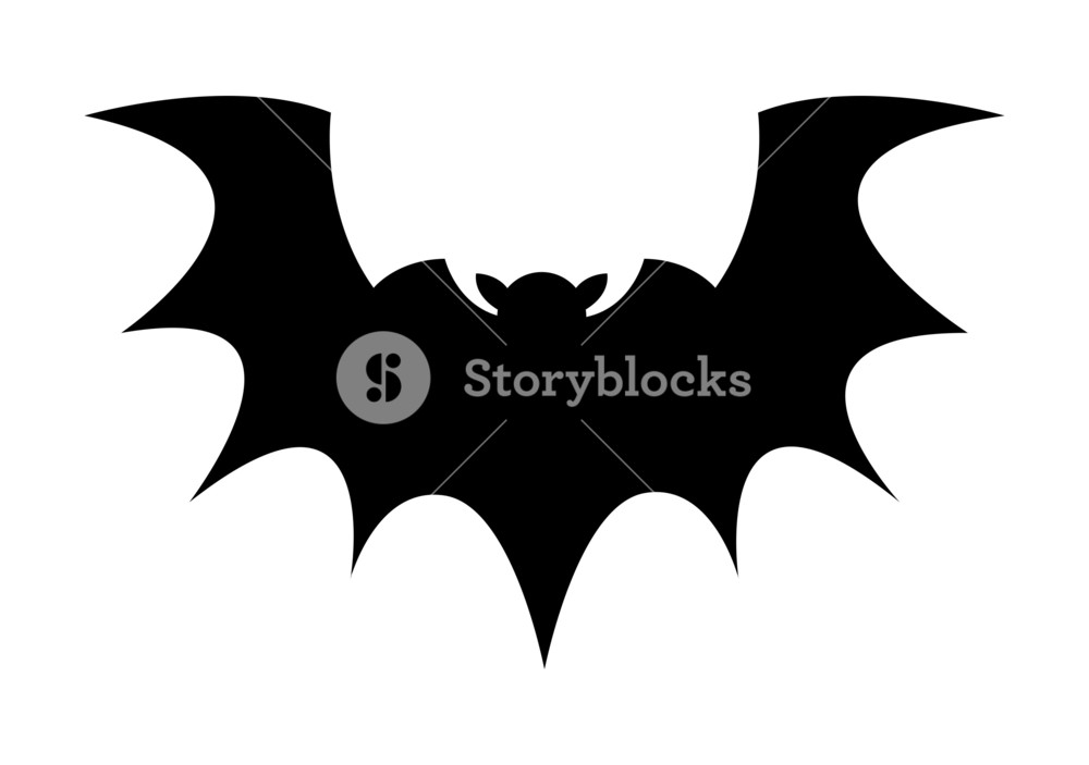 1000x703 Halloween Vempire Bat Vector Royalty Free Stock Image