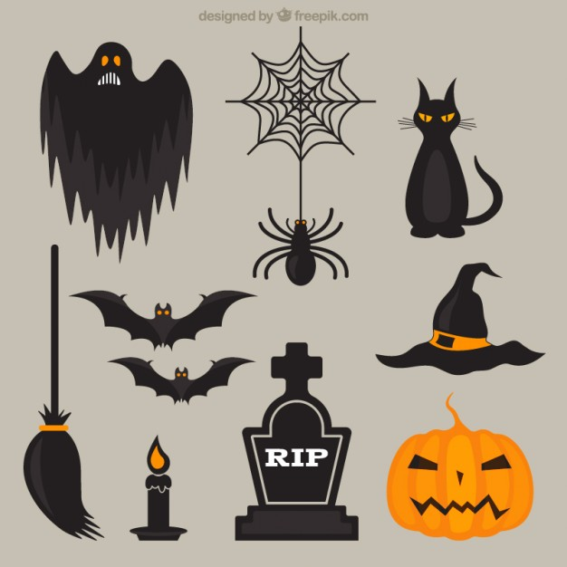 626x626 Scary Halloween Elements Vector Free Download