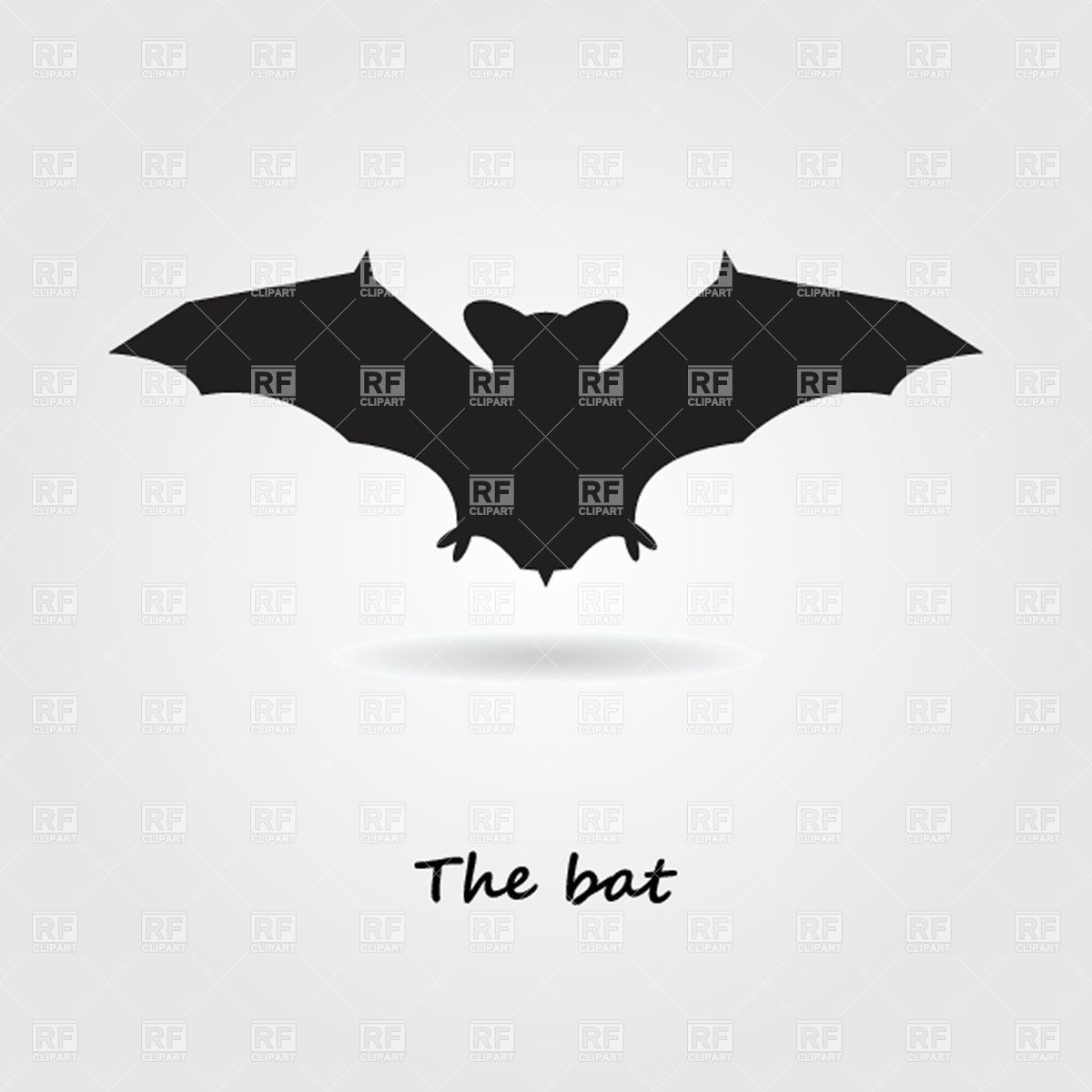 1200x1200 Silhouette Of Halloween Bat With Spread Wings Vector Image