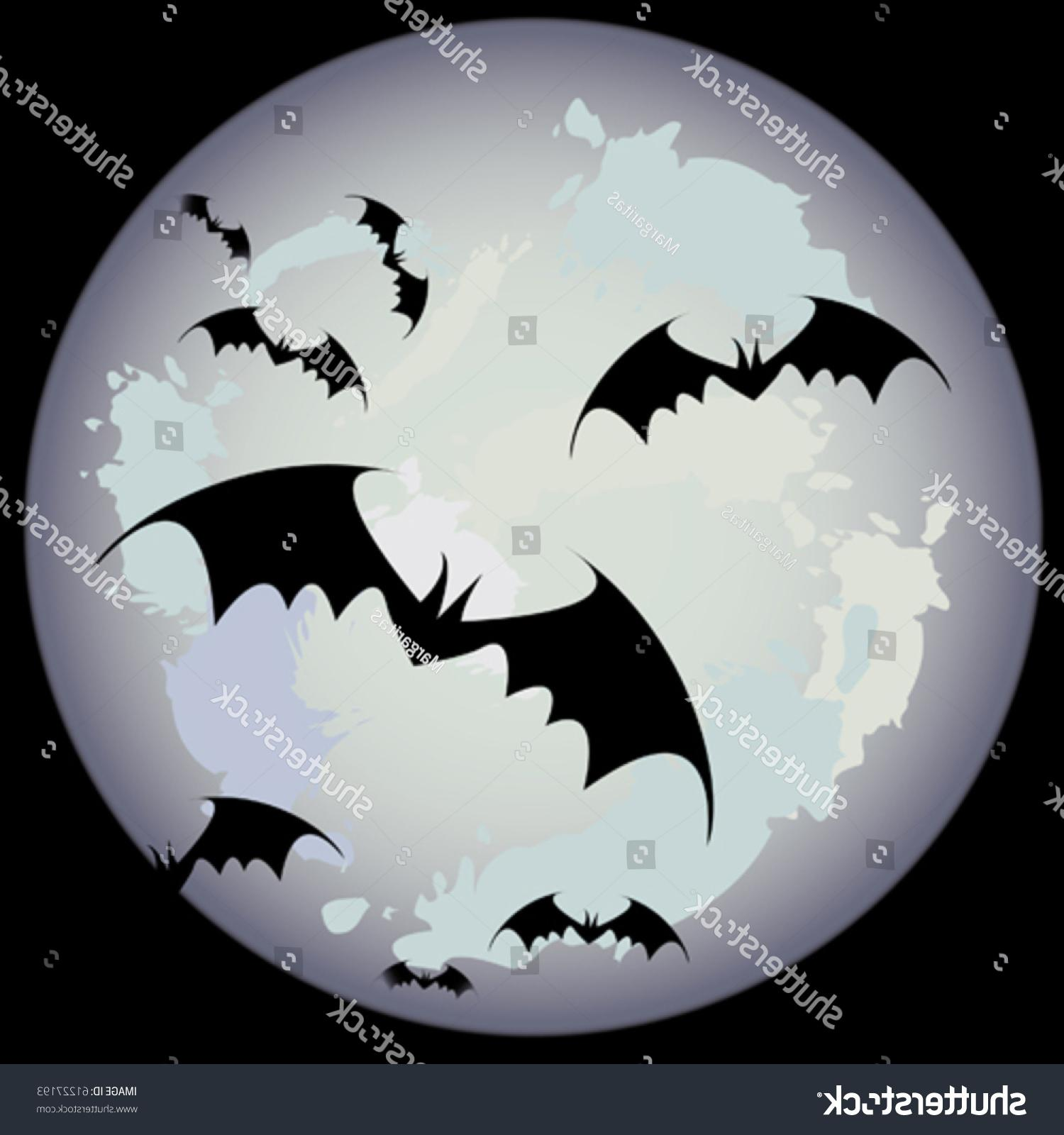 1500x1600 Unique Halloween Moon Bats Vector Photos Free Vector Art, Images
