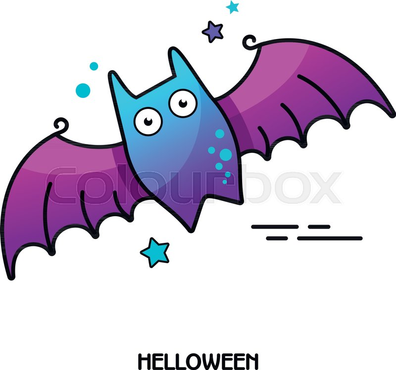 800x748 Bat Vector Icon. Halloween Sticker, Eps 10 Stock Vector Colourbox