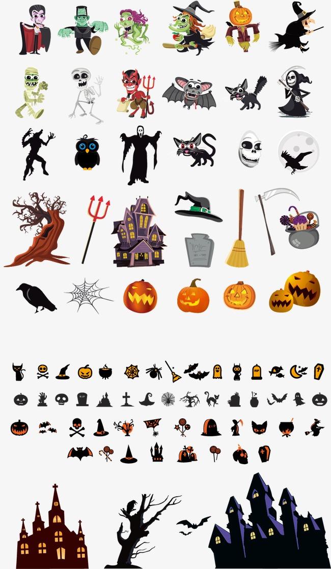 650x1118 Halloween Design Elements, Halloween Vector, Design Vector