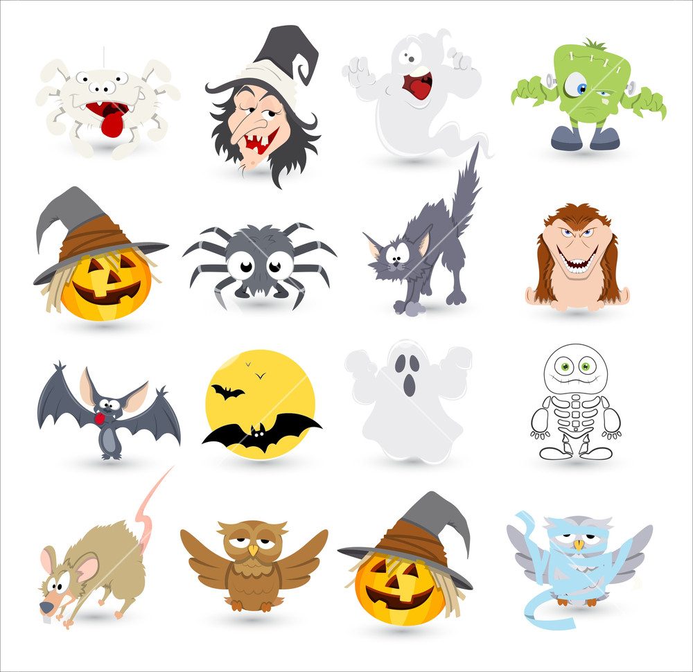 1000x970 Halloween Vector Characters Icons And Illustrations Royalty Free