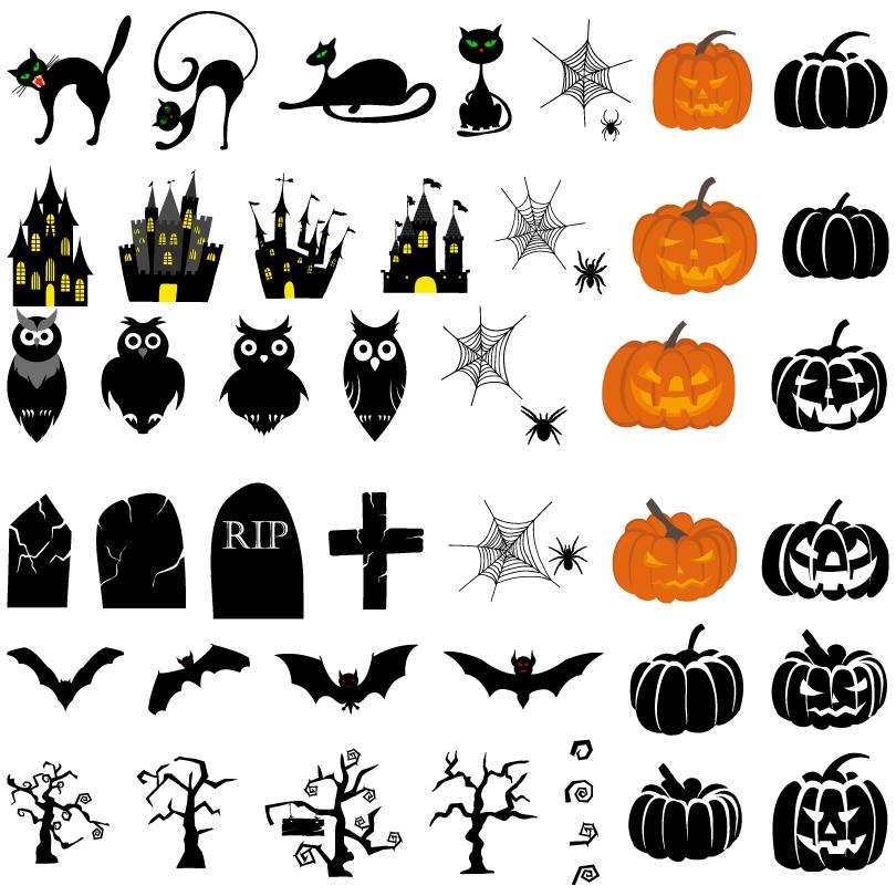 810x810 18 Vector Halloween Images