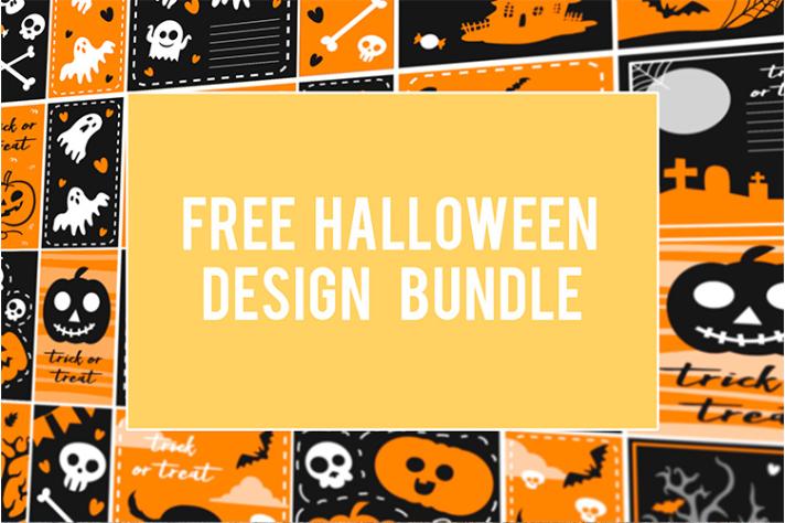 712x474 Halloween Vector Free Design Bundle