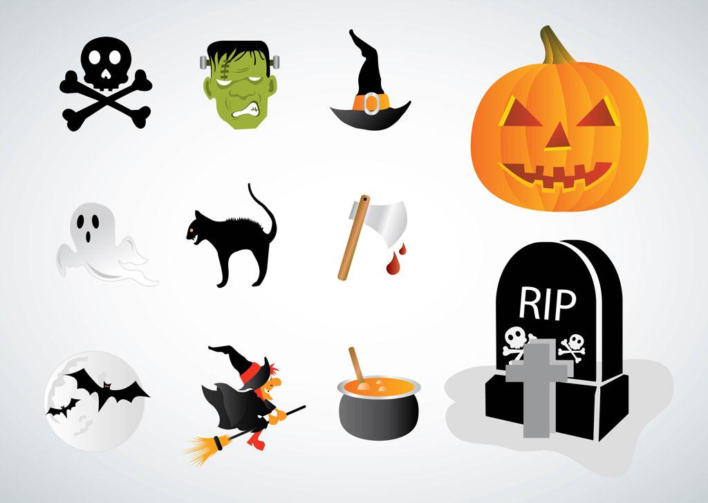 1024x727 Halloween Vectors