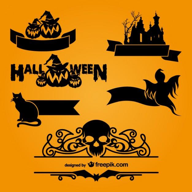 626x626 Halloween Logo Templates Vector Free Download