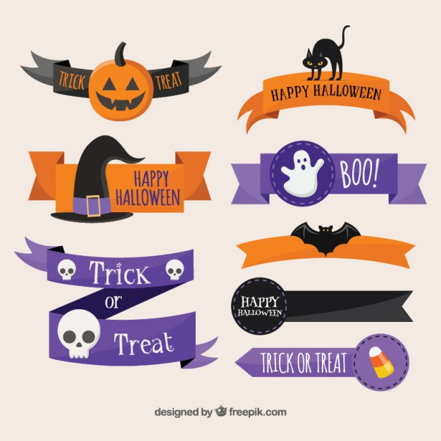626x626 Halloween Ribbons Vector Free Download