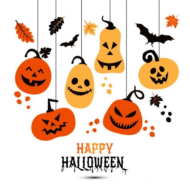 626x626 Hanging Pumpkins For Halloween Vector Free Download