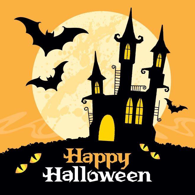 660x660 Haunted House Clipart Happy Halloween