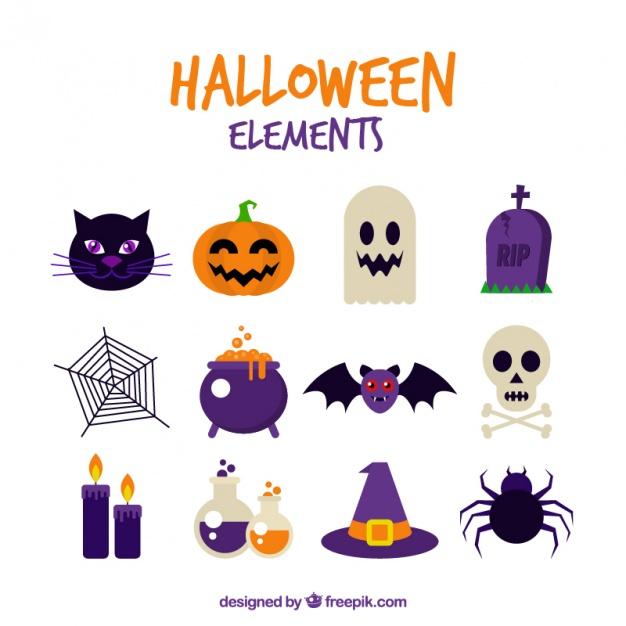 626x626 Assortment Of Halloween Celebration Vector Free Download